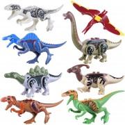 8 piezas DIY Dinosaurio Montaje Juguetes de bloques de construcción