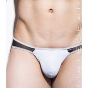 Mategear Nam Hyuk Low Rise Front 3/4 Back Ultra Pouch Bikini Swimwear White 1290502