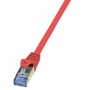 Patch kabel S/FTP 2m, Cat 6A, LSZH, Logilink CQ3054S, crvena