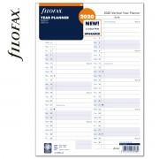 Filofax Naptárbetét Éves Vertikális A4 Fehér 2020