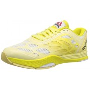 Reebok Women's Cardio Ultra White,Yellow Filament and Stinger Yellow Mesh Dance Shoes - 4 Uk