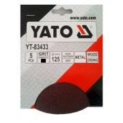 Csiszolópapír tépőzáras YATO P 60×125mm 5db/csomag Kód:YT-83432