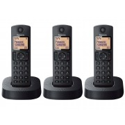 Panasonic Teléfono Inalámbrico Trío PANASONIC KX-TGC313SPBB Negro