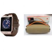 Mirza DZ09 Smart Watch and Mini Xtreme K5 + Bluetooth Speaker for LG OPTIMUS L9.(DZ09 Smart Watch With 4G Sim Card Memory Card| Mini Xtreme K5 + Bluetooth Speaker)