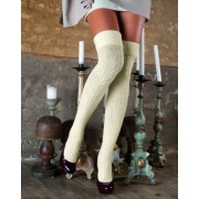 Trasparenze - Exclusive warm ribbed winter over the knee socks Netherland