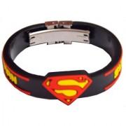 Men Style New Dsesign Black Black Rubber Round Bracelet For Men And Boy