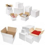 Faltkarton 150x150x150 mm - 1-wellig - Weiß