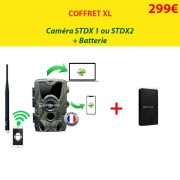 NATURACAM® COFFRET XL Caméra STD X1 ou X2 + batterie suppl.