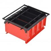 Sonata Преса за брикети от хартия стомана 38x31x18 см черно и червено