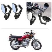 AutoStark 7/8 22cm Motorcycle Rear View Mirrors Handlebar Bar End Mirrors - Yamaha RX 100