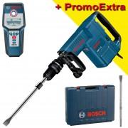 BOSCH GSH 11 E Ciocan demolator SDS-max 1500 W, 16.8J + GMS 120 Detector de metale