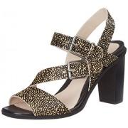 Clarks Women's Image Dazzle Blk Interest Leather Fashion Sandals - 5 UK