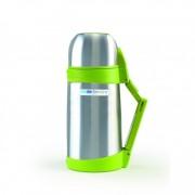 Termos pentru lichide BebeduE, 1000 ml, Argintiu/Verde