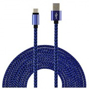 UNISAME 10Ft Rugged Bold Nylon Braided USB Type-C 3.1 to USB 2.0 A Male Data Charging Cable Reversible Connector Charger