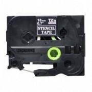 Лента за етикетен принтер Brother STE-141 Black Stamp Stencil Cassette Tape 18mm x 3, STE141
