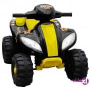 vidaXL Dječji električni Quad bicikl žuti i crni