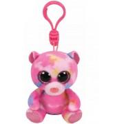 Breloc din plus TY Boos 8.5 cm - Franky ursuletul roz