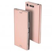 Bolsa Flip Dux Ducis Skin Pro Series para Sony Xperia XZ1 - Cor-de-Rosa Dourado