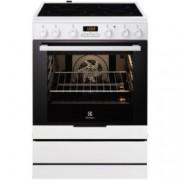 Готварска печка със стъклокерамичен плот Electrolux EKC6430AOW, клас А, 74 л, обем, 4 нагревателни зони, 8 функции на фурната, бяла