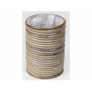 Tuinland Pot Stripe grey D14xH18cm