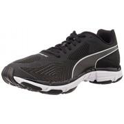 Puma Men's Mobium Ride v2 Black and Quarry Mesh Running Shoes - 6 UK/India (39 EU)