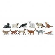 Plastic katten katen 12 stuks