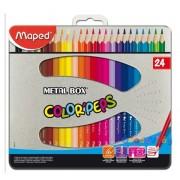 """Színes ceruza készlet 24db-os MAPED """"Color Peps"""" fém dobozban"""
