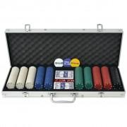 Sonata Покер комплект с 500 чипа, алуминий