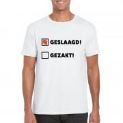 Bellatio Decorations Geslaagd/ gezakt t-shirt wit heren