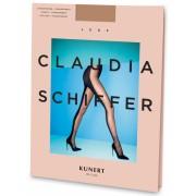 Claudia Schiffer Legs KUNERT de Luxe Style No. 7 - Tvåfärgad strumpbyxa med förföriskt mönster skin L