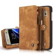 CaseMe notesztok Samsung Galaxy S7 EDGE telefonhoz - VILÁGOSBARNA