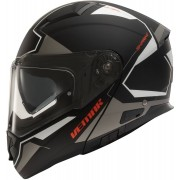 Vemar Vermar Sharki Cutter Motorcycle Helmet Black Silver 2XL
