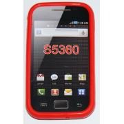 Силиконов гръб ТПУ за Samsung S5360 Galaxy Y Червен