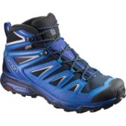 Salomon X ULTRA 3 MID GTX® Waterproof Hiking & Trekking Shoes For Men(Blue)
