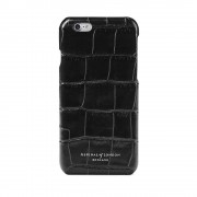 iPhone 6 Cover Case Black Croc Black Suede