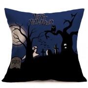 Halloween Decoration Pattern Car Sofa Pillowcase with Decorative Head Restraints Home Sofa Pillowcase D Size:43*43cm -HC3203D