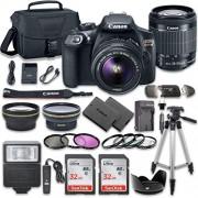 Canon EOS Rebel T6 Cámara réflex digital Combo con EF-S 18 55 mm f/3.5 5.6 IS II lente + 2PC SanDisk 32 GB tarjetas de memoria + kit de accesorios