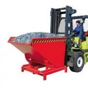 Dönthető, üríthető tároló edény 0,3 - 2,1 m3 között 4000 kg teherbírással. Nagy teherbírású targonca adapter - targonca villára húzható!