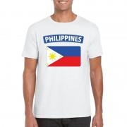 Bellatio Decorations Filipijnse vlag shirt wit heren