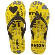 Franco Leone Women's Yellow Flip Flops - 3 UK/India (36 EU)