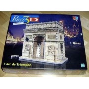 Arc de Triomphe, 246 Piece 3D Jigsaw Puzzle Made by Wrebbit Puzz-3D