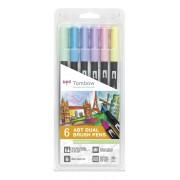 Tombow ABT Dual Brush Pen 6 stuk
