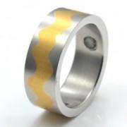 Inel magnetic placat cu aur VOX 8002