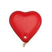 Heart Coin Purse Berry Lizard