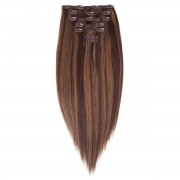 Rapunzel® Extensions Naturali Kit Clip-on Original 7 pezzi M2.3/5.0 Chocolate Mix 40 cm
