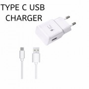 New 2 Amp Fast TYPE C Charger With USB Cable For Samsung Galaxy S8 S8 edge C9 Pro C7 Pro Samsung A7 (2017)- White