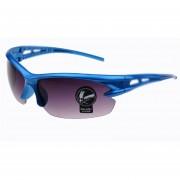 Lentes De Sol A Prueba Explosión Para Ciclismo Armadura Azul - Gris