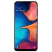 "Telefon Mobil Samsung Galaxy A20, Procesor Octa-Core 1.6GHz/1.35GHz, Super AMOLED Capacitive touchscreen 6.4"", 3GB RAM, 32GB Flash, Camera Duala 13+5MP, Wi-Fi, 4G, Dual Sim, Android (Rosu)"