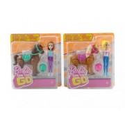 Barbie On The Go Mini Ponei si Papusa FHV60