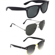 Zyaden Black UV Protection Unisex Aviator Sunglass